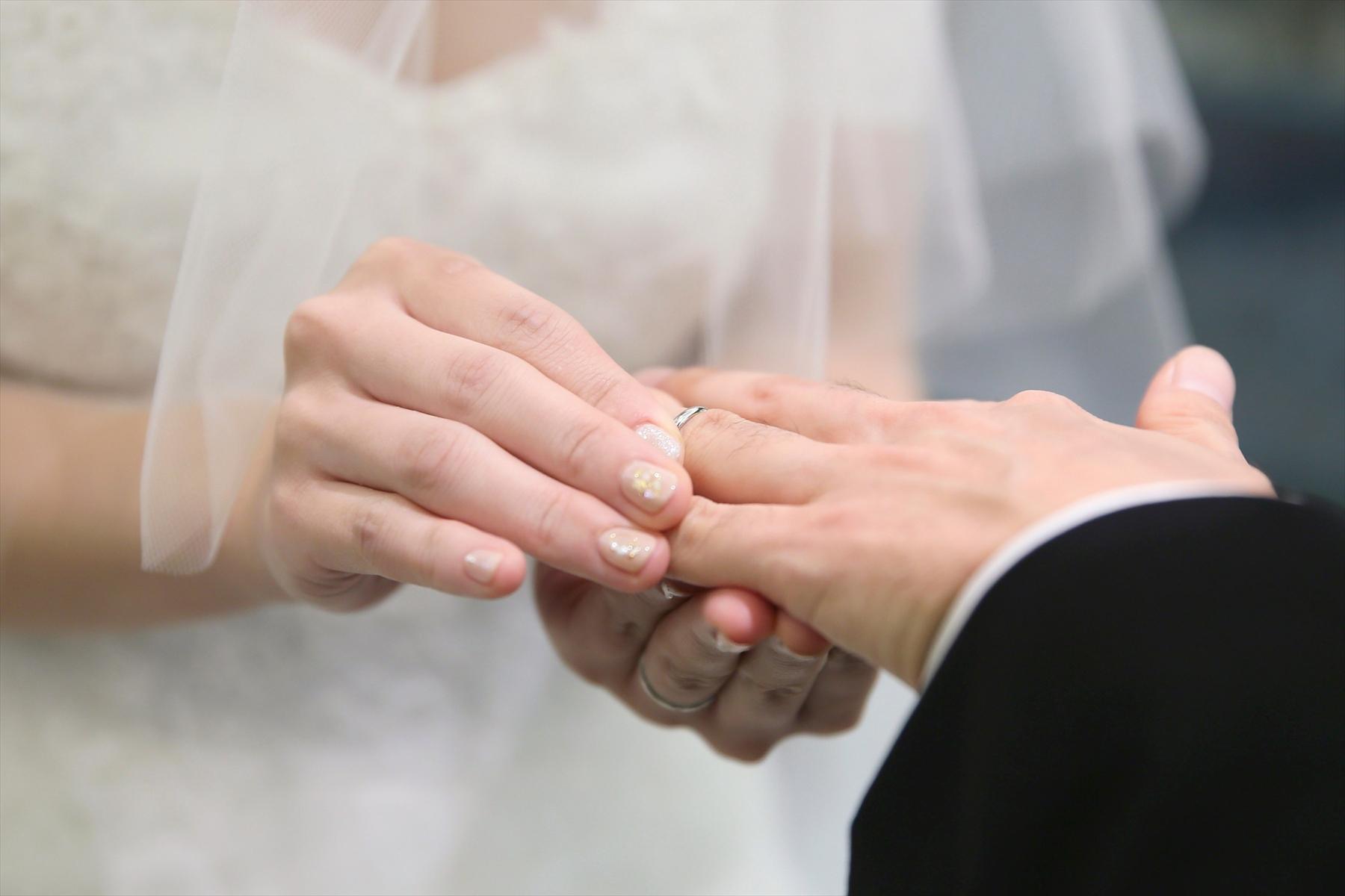 アニバーサリーアン恵比寿 カップルレポート 挙式 指輪交換