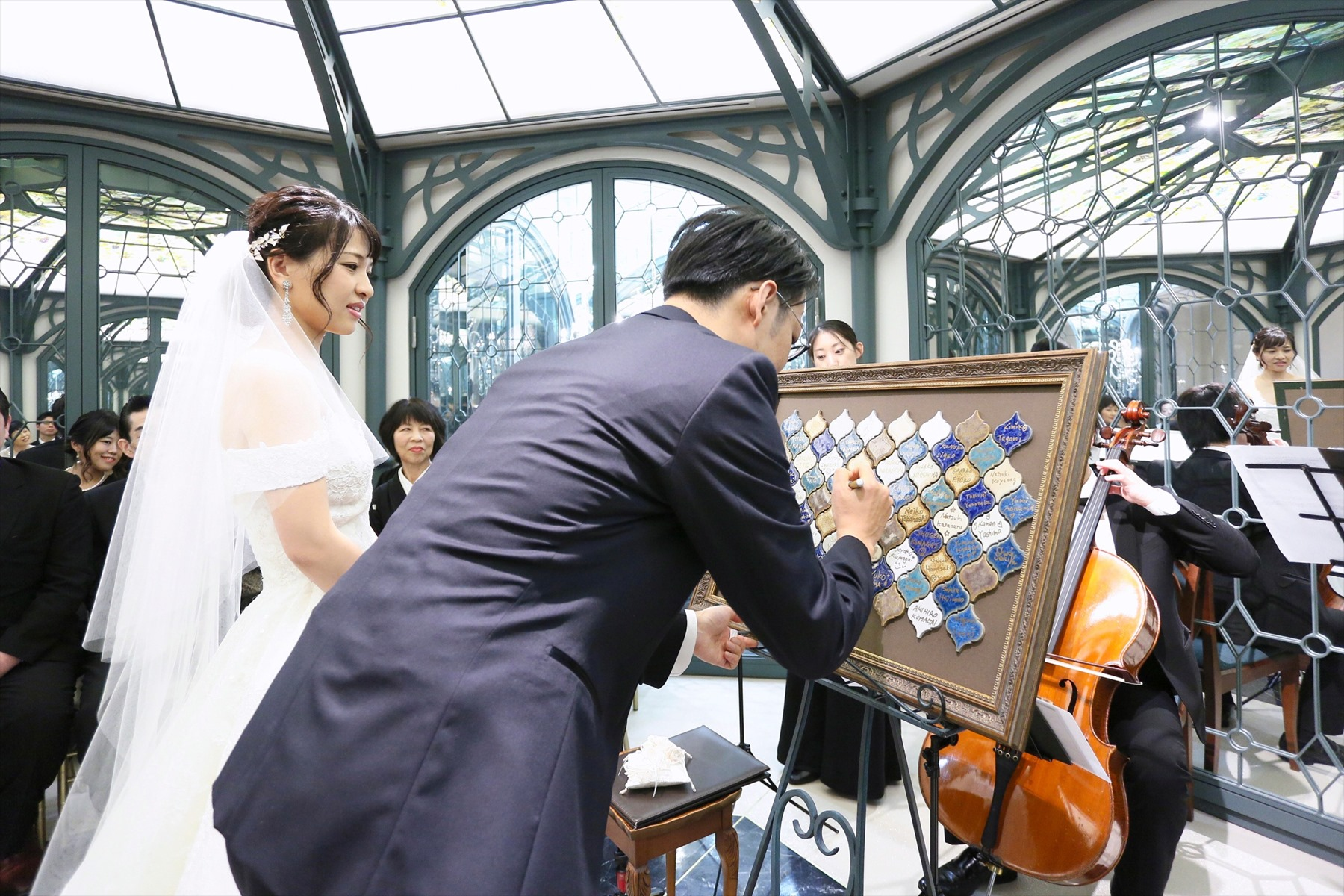 アニバーサリーアン恵比寿 カップルレポート 挙式 人前式 結婚証明書 コラベルタイル ご新郎ご新婦