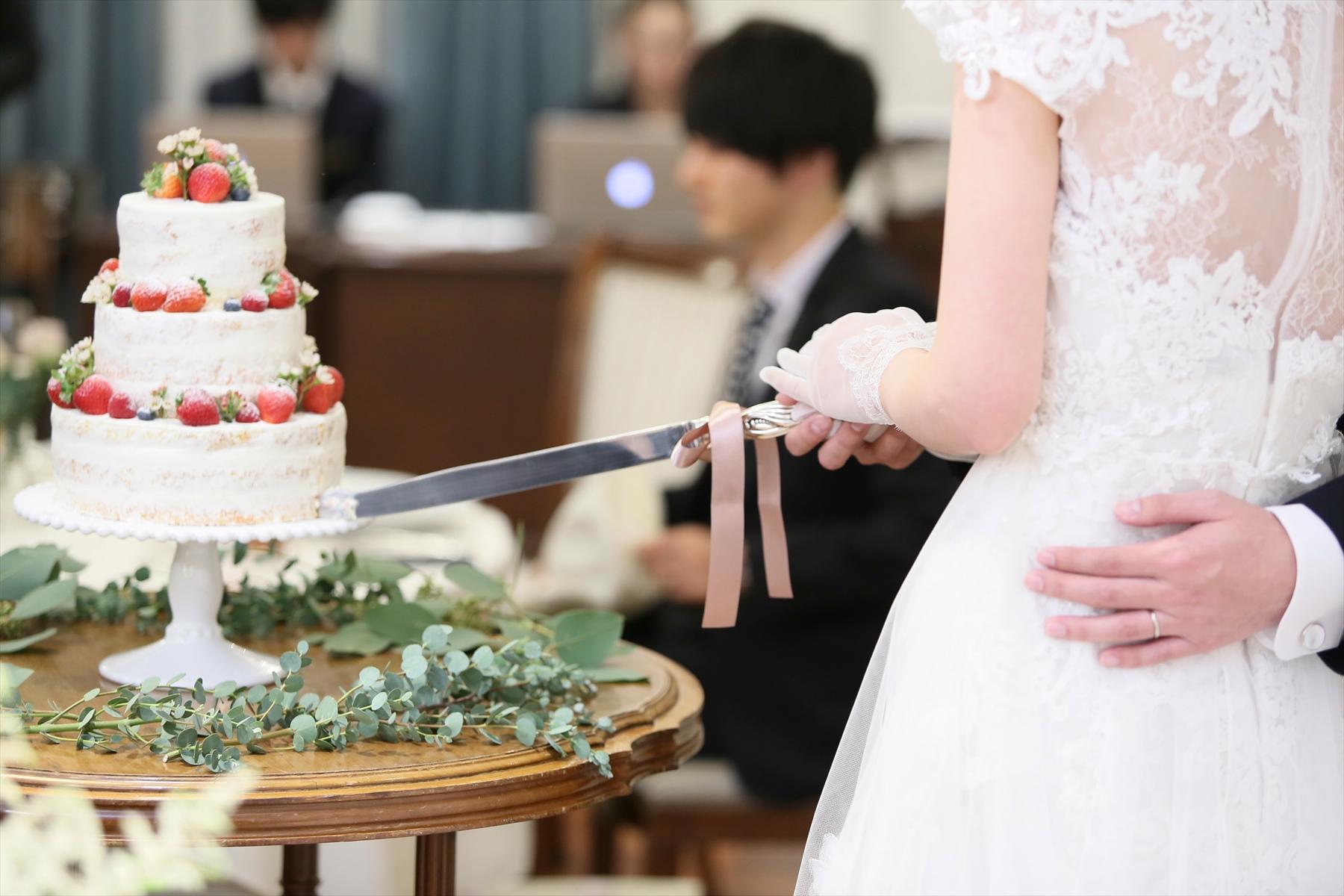 アニバーサリーアン恵比寿 パーティレポート パーティ 新郎新婦 エスカリエ ケーキ入刀